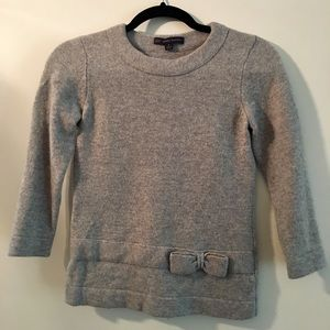 Brooks Brothers gray sweater with bow, size small